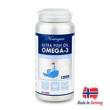 Premium Norwegian Ultra Fish Oil Omega-3 120 Capsules Norwegian Pharma