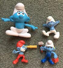 LOT OF 4 The Smurfs Mini Figure RARE 2011-2016 Burger King & McDonald's Toys