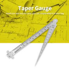 Welding Taper Feeler Gauge Gage Depth Ruler Stainless Steel Gap Hole
