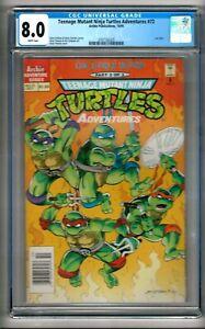 "Teenage Mutant Ninja Turtles Adventures #72 (1995) CGC 8.0  WP  ""NEWSSTAND"""