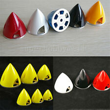 """1pc 2.5""""/63.5mm Plastic Prop Spinner W/Aluminum Back For RC Airplane 5colors #sb"""