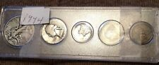 """""""Circulated"""" 1944 USA 5 Piece Year Set, Birthday, Collectable"""
