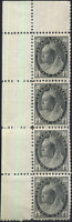 Canada #74 mint F-VF OG NH 1898 Queen Victoria 1/2c black Numeral Strip of 4
