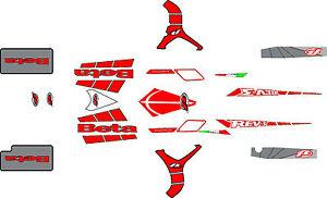Beta Rev 3 Trials Bike  complete decal / sticker  set 2008.