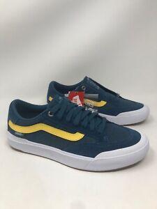 VANS Berle Pro Stv Navy Blue White Yellow Mens Size 11 M Skate Shoes VN0A3WKXSN0