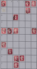 PLATE 155 SG43 1D Penny Red GB Victorian postage stamp