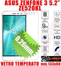 """Pellicola  VETRO temperato ASUS ZENFONE 3 ZE520KL 5.2"""" PROTEGGI SCHERMO LCD"""