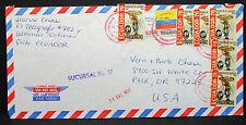 L' équateur pregonero airmail cover to usa sucursal no 17 stamp Lupo lettre (l-2480+