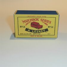 Matchbox Lesney 14 c Lomas Ambulance empty Repro C style Box