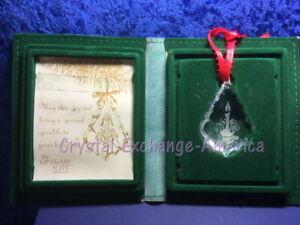 Swarovski Crystal Christmas Candle 1987 Ornament Holiday Etching SCO1987 MIB