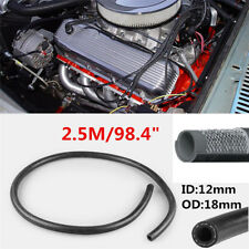 """7/16"""" Rubber Steel Car Fuel Hose Engine Oil Gas Air Pipe Line Reinforced 2.5m"""