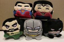 KAWAII CUBES BVS BATMAN VS SUPERMAN DAWN OF JUSTICE PLUSH SET  WONDER WOMAN NEW