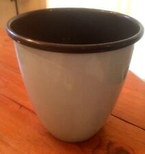 Bed Bath and Beyond Brand ~ Hand Crafted Waste Container ~ Blue/Chocolate Color