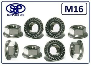 M16 STAINLESS SERRATED FLANGE NUT A2 ST/STEEL SERRATED FLANGE NUT 16mm THREAD