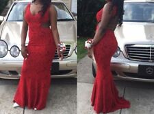 Red sequined prom dress worn for one night, size 8