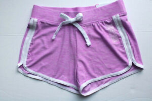"""Justice Active Girls' Sizes 6 & 8 Purple """"Wicking; Quick Dry"""" Dolphin Shorts"""