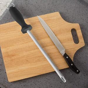 12'' Sharpening Rod Knife Sharpener Steel Rod Professional Kitchen Tool Diamond