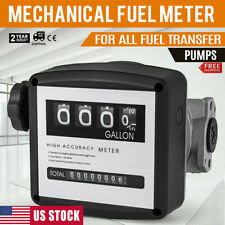 Fuel Meter Gas Mechanical Gallon Tracking Flow Sensor Measurement 4 Digit New Us