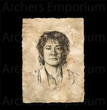 Portrait of Bilbo Baggins Art Print. Official Prop Replica. LotR, Hobbit. Weta.