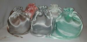 Plain Shimmer Satin Dolly Bag Handbag / Purse Wedding Bridesmaid Many Colours