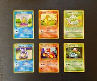 Pokemon Charmander Squirtle Bulbasaur & Others Base Set LP - NM (T) Japanese