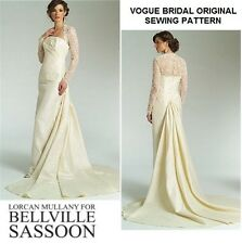 VOGUE V2906 BELLVILLE SASSOON WEDDING LACE INSET DRESS BRIDAL GOWN PATTERN 18-22