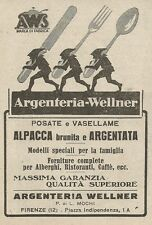 Z2015 Argenteria Wellner - Posate e Vasellame - Pubblicità d'epoca - Advertising