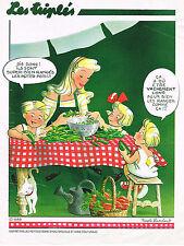 """PUBLICITE ADVERTISING 064  1997  NICOLE LAMBERT  LES TRPLES  """" les petits pois"""""""