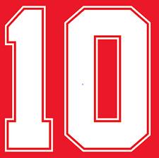 England Lineker Nameset Shirt Soccer Number Letter Heat Print Football 1990 A