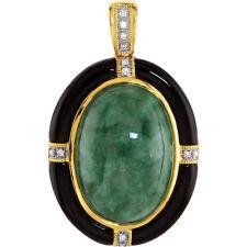 Russo Giadeite, Onice & Diamante 45.7cm Collana in 14K Oro Giallo