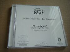 Phil Collins & Tina Turner - Great Spirits CD SEALED FYC Brother Bear song promo