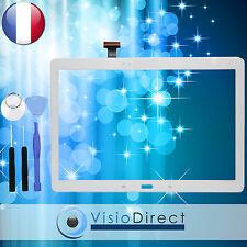"""Vitre ecran tactile pour Samsung Galaxy Tab Pro10.1"""" T520 blanc +adhésif +outils"""