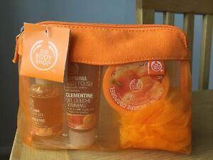 The Body Shop Satsuma Shower Scrub & Moisture Gift Set New