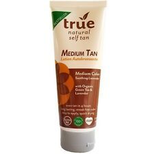 True Natural Organic Self Tanner Light Medium Tan - Lavender Vegan 3.4 fl oz