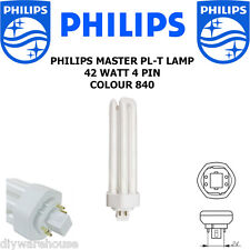 PHILIPS FLUORESCENT LAMP PL-T 42 WATT COLOUR 840 COOL WHITE 4 PIN GX24q-4 BNIB