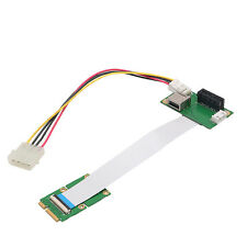 Express Mini PCI-E to PCI-E 1X Extension Cord Adapter Card with USB Riser Card