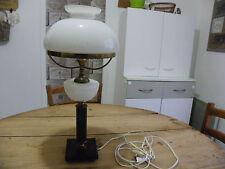 LAMPE ANCIENNE SUR PIEDS BOULES SOCLE MARBRE ET GLOBES EN OPALINE