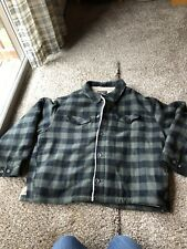 Woolrich Wool Sherpa Lined  Mens Jacket Coat Plaid XL NEW WITH TAGS