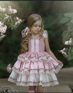 NWT Dollcake Perfect Picnic Pink Dress sz 9 Birthday Wedding Special Occasionn