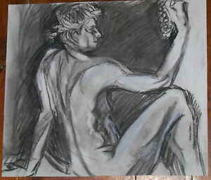 """""""THE GRAPES"""" by RUTH FREEMAN CHARCOAL 13 1/4""""X15 1/2"""""""
