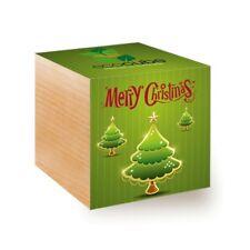 ecocube Holzwürfel - Weihnachtsbaum Xmas Tree 2 (Fichte)