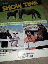 Collectible SHOW TIME Tennesee Walking Horse Spring Celebration Yearbook
