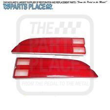 1970-73 Firebird / TransAm Rear Tail Light Lamp Lens Pair - GM 5964663 & 5964664