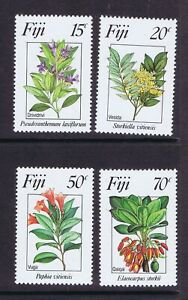 FIJI 1984 FLOWERS SG 680/683 FINE UNMOUNTED MINT - NEVER HINGED