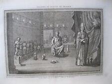 Vintage Print,UN DEFENSEUR DE LA PATRIE,18th Century,View of Trade Port,1748