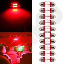 10x New LED 31mm-10-4014-SMD Bulbs for Interior Festoon Lights Ultra Red Hot US