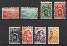 Monaco 8 timbres anciens oblitérés  /T1023