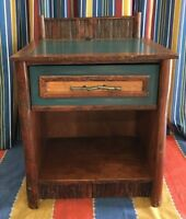 (2) Disney Wilderness Lodge Night Stand Guest Room Prop Old Hickory Furniture Co