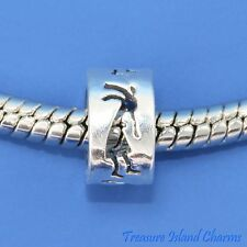 Kokopelli .925 Solid Sterling Silver European Spacer Bead Charm Euro