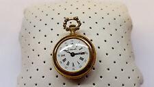 Schöne Taschenuhr F. Chevalier Kettenuhr Uhr Handaufzug vergoldet